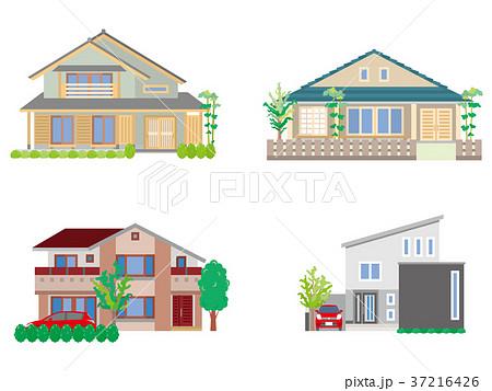 家のイラストのイラスト素材 37216426 Pixta