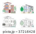 家 住宅 一軒家のイラスト 37216428