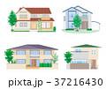 家 住宅 一軒家のイラスト 37216430