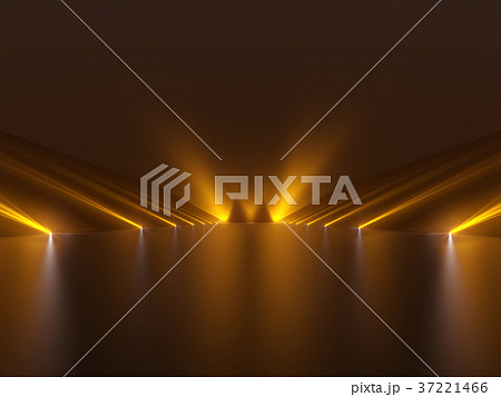 Futuristic dark podium with light and reflection 37221466