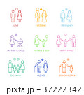 Family Thin Line Icons Set. Vector 37222342