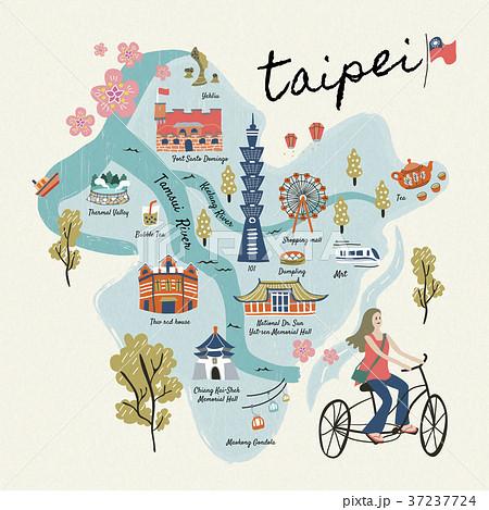 Lovely Taiwan travel symbols 37237724