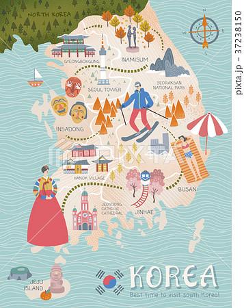 Korea travel map 37238150