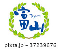 富山 筆文字 青葉 フレーム 37239676