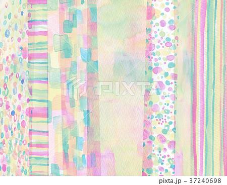 水彩 コラージュ 背景素材 37240698