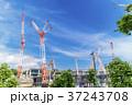 大規模建設現場のある都市風景 37243708