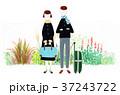 旅行 旅 カップルのイラスト 37243722