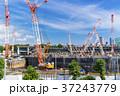 大規模建設現場のある都市風景 37243779