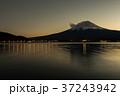 富士山 夕暮れ 河口湖の写真 37243942