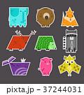 動物 貼り紙 シールのイラスト 37244031