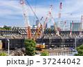 大規模建設現場のある都市風景 37244042