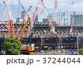 大規模建設現場のある都市風景 37244044