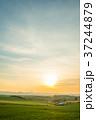 新栄の丘 北海道 夕日の写真 37244879