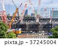 大規模建設現場のある都市風景 37245004
