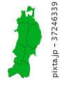 ベクター 地図 日本地図のイラスト 37246339