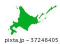 ベクター 地図 日本地図のイラスト 37246405