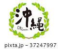 沖縄 筆文字 青葉 フレーム 37247997