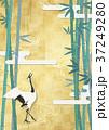 金屏風 鶴 日本画のイラスト 37249280
