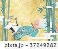 金屏風 鶴 日本画のイラスト 37249282