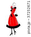 バレンタインの告白 赤ドレス 37252671