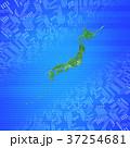 緑の日本地図とインターネット 37254681