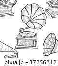 蓄音機 ベクトル レトロのイラスト 37256212