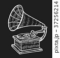蓄音機 音楽 レトロのイラスト 37256214