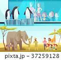 動物 動物園 のぼりのイラスト 37259128