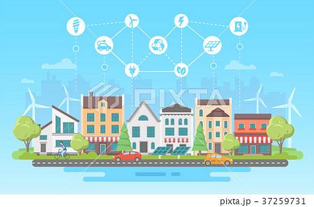 Eco-friendly lifestyle - modern flat design style 37259731