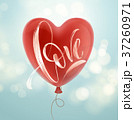 Valentines day card with Love lettering and red 37260971