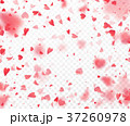Heart confetti falling on transparent background 37260978