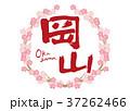 岡山 筆文字 桜 フレーム 37262466