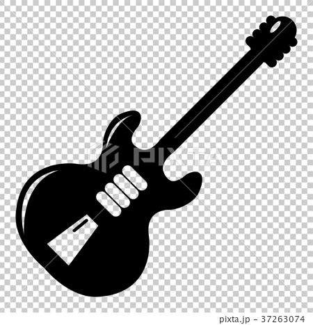 Electric guitar icon , simple style 37263074
