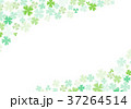 クローバー 四つ葉 フレームのイラスト 37264514