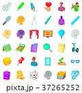 University icons set, cartoon style 37265252