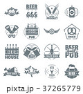 Beer alcohol logo icons set, simple style 37265779