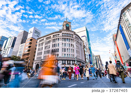 《東京都》銀座・都心風景 37267405