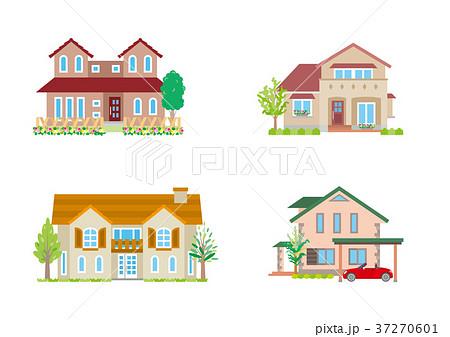 可愛い家のイラスト素材 37270601 Pixta