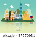 Traveling to Taiwan with landmark of infographic 37270931
