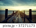 Sunset beach pier with relaxing moment time 37271173
