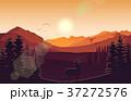 山 景色 鹿のイラスト 37272576
