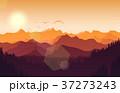 山 景色 風景のイラスト 37273243