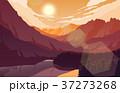 山 景色 風景のイラスト 37273268