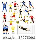 サッカー チーム ボールのイラスト 37276008