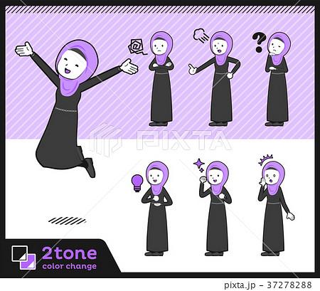 2tone type Arab women_set 01 37278288