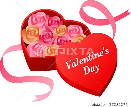 バレンタインデー ハートのボックス 37282276