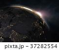 地球 グローバル 立体のイラスト 37282554