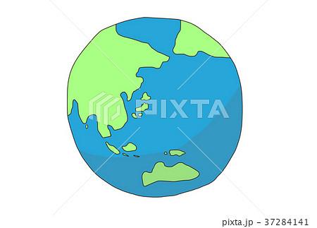 地球 手書きイラストのイラスト素材