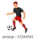 選手 サッカー フットボールのイラスト 37284564