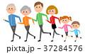 家族 ベクター ランニングのイラスト 37284576